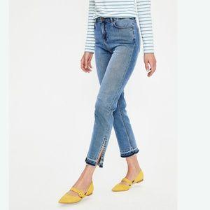 New Boden Salisbury Side Split Hem Jeans - Blue